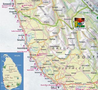 Sri Lanka-Karte